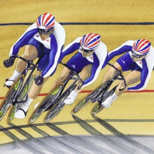 Painting, watercolour - Olympic cycling